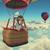男 · 熱気球 · 3dのレンダリング · 実例 · 空 · 緑 - ストックフォト © orla