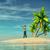 man · tropisch · eiland · naar · oceaan · 3d · render · boom - stockfoto © orla
