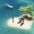 3d · render · hart · eiland · oceaan · palmbomen - stockfoto © orla