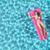 risonho · menina · ar · colchão · jovem · piscina - foto stock © orla