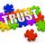 puzzle · szó · bizalom · kirakó · darabok · építkezés · játék - stock fotó © outstyle