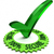 um · cem · por · cento · garantir · verde · etiqueta - foto stock © outstyle