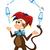 scimmia · giocoleria · vintage · carta · cute - foto d'archivio © oxygen64