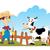 фермер · сцена · иллюстрация · улыбка · трава - Сток-фото © oxygen64