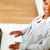 очаровательный · молодые · черную · женщину · рабочих · ноутбука · Top - Сток-фото © pablocalvog