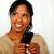 Friendly black woman sending a message stock photo © pablocalvog