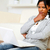 peinzend · aantrekkelijke · vrouw · vloer · portret · aantrekkelijk · jonge · vrouw - stockfoto © pablocalvog