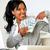 happy woman pointing plenty of cash money stock photo © pablocalvog