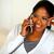 Afro-american female conversing on phone stock photo © pablocalvog
