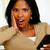 verwonderd · vrouw · naar · mobieltje · portret · licht - stockfoto © pablocalvog