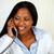 African girl conversing on phone stock photo © pablocalvog