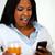 verwonderd · jonge · vrouw · lezing · bericht · laptop · portret - stockfoto © pablocalvog