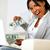 ambitieus · opgewonden · zwarte · vrouw · geld · portret · vrouw - stockfoto © pablocalvog
