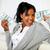 afro american girl holding plenty of cash money stock photo © pablocalvog
