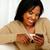 若い女性 · 読む · メッセージ · 携帯 · 携帯電話 - ストックフォト © pablocalvog