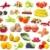 メロン · 液果類 · 果物 · フルーツ · 背景 · 赤 - ストックフォト © pakhnyushchyy