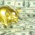 gold piggy bank stock photo © pakhnyushchyy