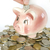 monet · banku · piggy · błyszczący · amerykański · różowy · shot - zdjęcia stock © pakhnyushchyy