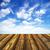 blauwe · hemel · houten · vloer · hemel · frame · zomer · Blauw - stockfoto © pakhnyushchyy