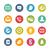 Social Icons -- Fresh Colors Series stock photo © Palsur