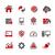 red · de · negocios · iconos · vector · digital · impresión · proyectos - foto stock © palsur