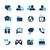 medios · de · comunicación · social · azur · profesional · iconos · sitio · web · presentación - foto stock © palsur