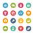 website · internet · pictogrammen · vers · kleuren · vector · iconen - stockfoto © palsur