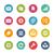 háló · mobil · ikonok · 10 · friss · színek - stock fotó © palsur