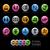 negocios · financieros · iconos · vector · archivo · color - foto stock © Palsur