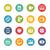 Multimedia Icons -- Fresh Colors Series stock photo © Palsur