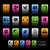 ソーシャルメディア · eps · ファイル · 色 · アイコン · 異なる - ストックフォト © palsur
