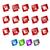 stickers · ingesteld · verschillend · kleur · papier · web - stockfoto © palsur