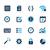 ícones · interface · azul · vetor · teia · móvel - foto stock © palsur