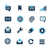 web · interface · azuur · professionele · iconen · website - stockfoto © palsur