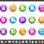 multimídia · arco-íris · profissional · ícones · site · apresentação - foto stock © palsur