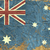 vintage · australiano · bandeira · papel · fundo · vermelho - foto stock © Panaceadoll
