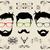 moustache · isolé · pilosité · faciale · blanche · visage · noir - photo stock © panaceadoll
