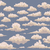 seamless illustration of blue background with vintage clouds stock photo © Panaceadoll