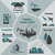 infographics pollution human activity stock photo © Panaceadoll