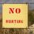 no hunting sign stock photo © pancaketom