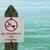 geen · zwemmen · teken · bank · vijver · strand - stockfoto © pancaketom