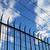 háló · kerítés · szögesdrót · kék · ég · háttér · fém - stock fotó © pancaketom