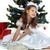 küçük · güzel · kız · noel · ağacı · yalıtılmış · beyaz · ağaç - stok fotoğraf © pandorabox