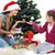 anne · kız · noel · ağacı · hediyeler · yalıtılmış · beyaz - stok fotoğraf © pandorabox