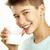 erkek · içmek · süt · beyaz · yüz · adam - stok fotoğraf © paolopagani
