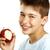 erkek · yemek · elma · beyaz · gülümseme · mutlu - stok fotoğraf © paolopagani