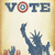 be responsible and vote on usa map vintage patriotic poster to stock photo © pashabo