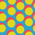 pop art style seamless print yellow circles and red shadow on b stock photo © pashabo
