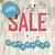 sale retro poster template with wooden texture and different di stock photo © pashabo