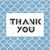 thank you very much lettering on blue asian fish scale pattern stock photo © pashabo
